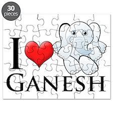 iHeartGanesh-transp Puzzle