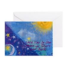 MoonSTARSlove Greeting Card
