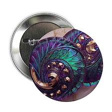 """green_spiral_czech_button_4 2.25"""" Button"""