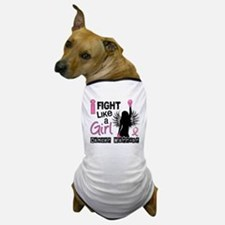 Fight Like A Girl Breast Cancer 26.2 Dog T-Shirt
