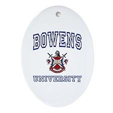 BOWENS University Oval Ornament