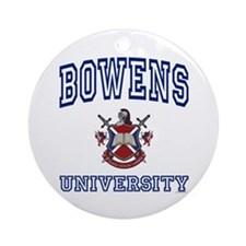 BOWENS University Ornament (Round)