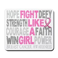 Fight Like A Girl Breast Cancer 23.3 D Mousepad