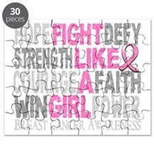 Fight Like A Girl Breast Cancer 23.3 D Puzzle