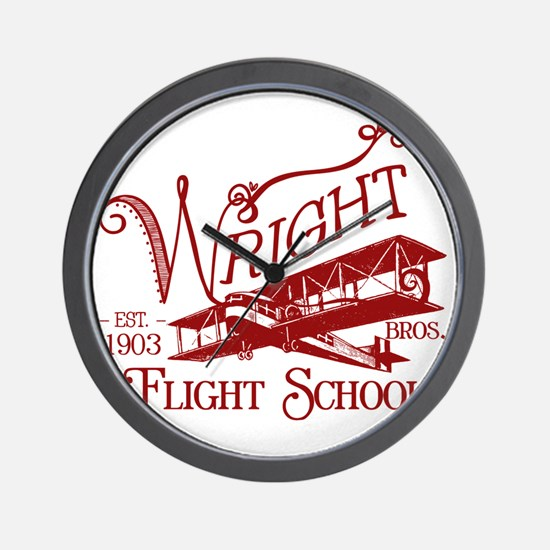 FlightSchoolCrimson Wall Clock