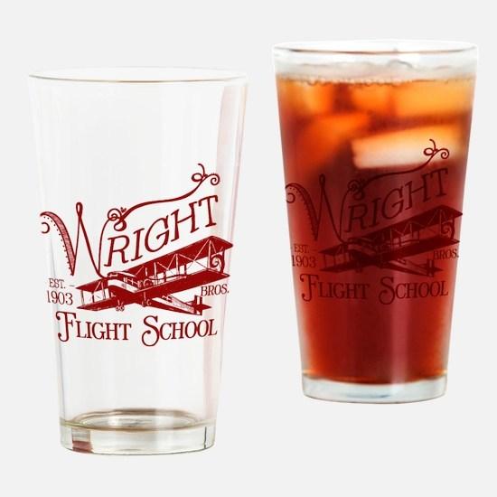 FlightSchoolCrimson Drinking Glass