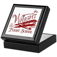 FlightSchoolCrimson Keepsake Box