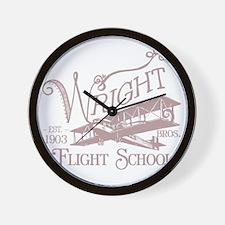 FlightSchoolWashedOutRed Wall Clock