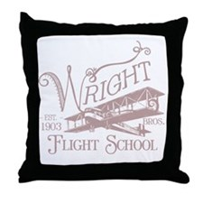 FlightSchoolWashedOutRed Throw Pillow