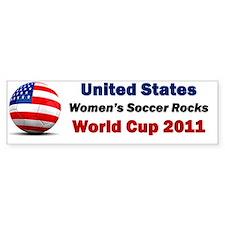 Women Soccer Bumper Bumper Sticker