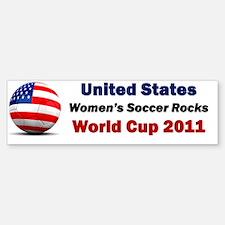 Women Soccer Sticker (Bumper)