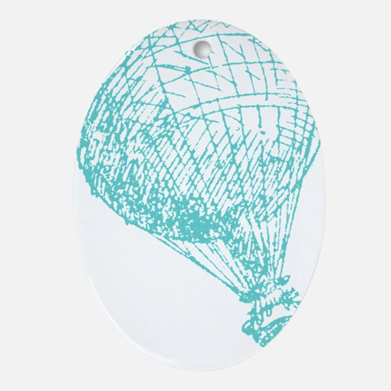 BalloonTeal Oval Ornament