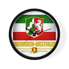 Nordrhein-Westfalen (Flag 10) Wall Clock