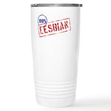 100% Lesbian Travel Mug