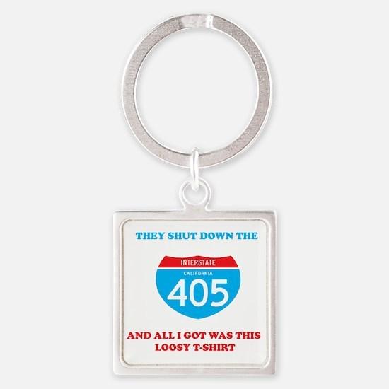 interstate-4052 Square Keychain