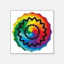 """colorwheel Square Sticker 3"""" x 3"""""""