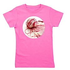 pinkKnitting_cir Girl's Tee