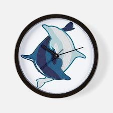 dolphin yin and yang Wall Clock