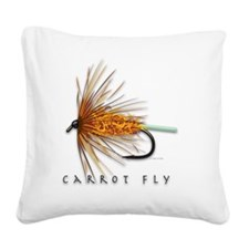 Carrot Fly Square Canvas Pillow