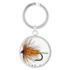 Carrot Fly Round Keychain