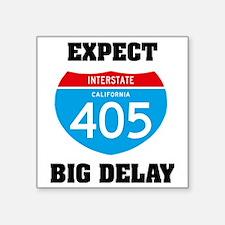 "interstate405C Square Sticker 3"" x 3"""