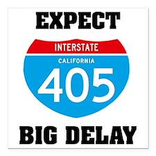 "interstate405C Square Car Magnet 3"" x 3"""