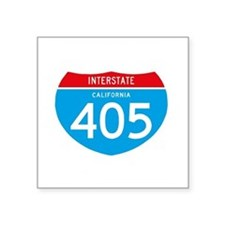 "interstate405F Square Sticker 3"" x 3"""