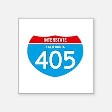 "interstate405F Square Sticker 3"" x 3"""