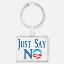 Just Say NO Landscape Keychain
