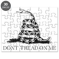 Dont Tread On Me - Black Puzzle