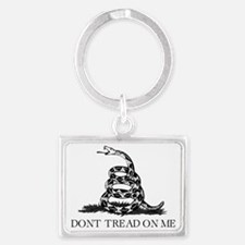 Dont Tread On Me - Black Landscape Keychain
