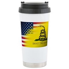 American and Gadsden Flag Travel Mug