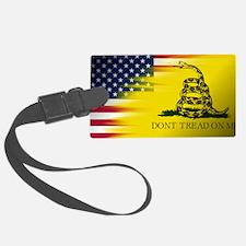 American and Gadsden Flag Luggage Tag