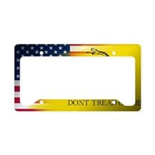 American and Gadsden Flag License Plate Holder