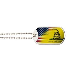 American and Gadsden Flag Dog Tags
