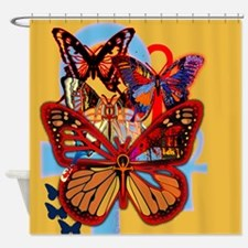 Ankh Butterfly Shower Curtain