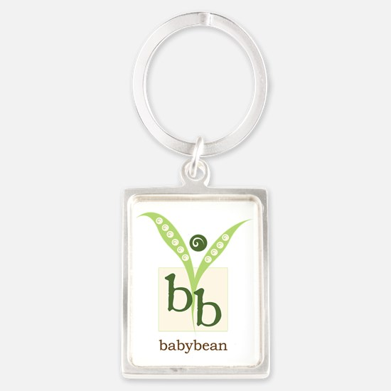 BabyBean Logo Portrait Keychain