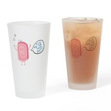 Rub Me On Your Butt Drinking Glass