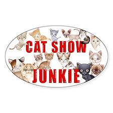cat show junkie large car magnet Decal