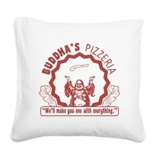 BuddhaspizzaPNG Square Canvas Pillow