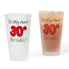 My Aunts 30th Birthday Drinking Glass