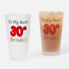 My Uncles 30th Birthday Drinking Glass