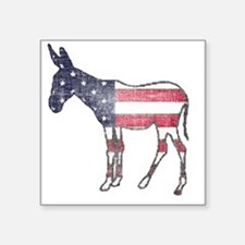 "donkey-american-flag Square Sticker 3"" x 3"""