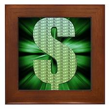 Dollar Sign Framed Tile