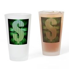 Dollar Sign Drinking Glass