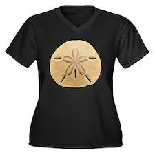 SAND DOLLAR  Women's Plus Size Dark V-Neck T-Shirt