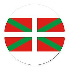 Basque_Dark Round Car Magnet
