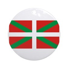 Basque_Dark Round Ornament