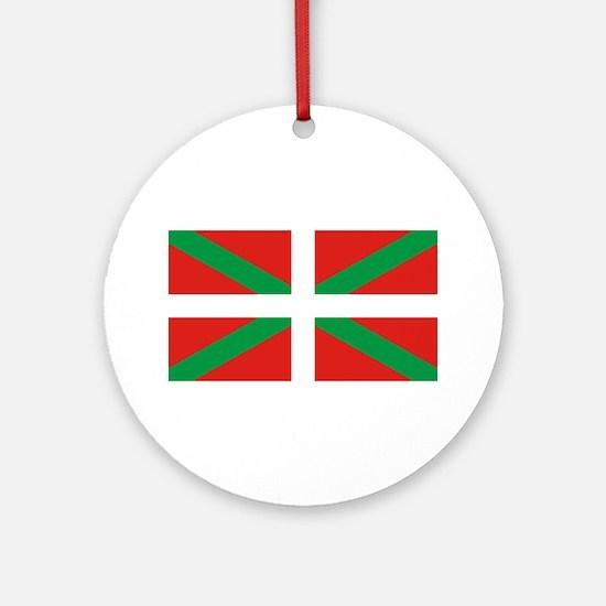 Basque_Dark Round Ornament