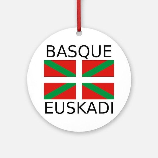 Basque Round Ornament